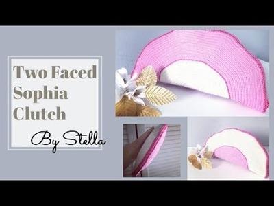 Tutorial using #Tapestry crochet half moon #Twofaced Sophia #clutch | #bag .Simple Wayuu style.