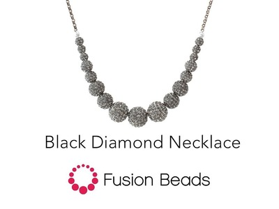 Watch how to string the Black Diamond Necklace by Fusion Beads