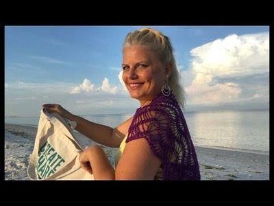 Yarn on the beach 177 live video podcast with Kristin Omdahl knitting crochet