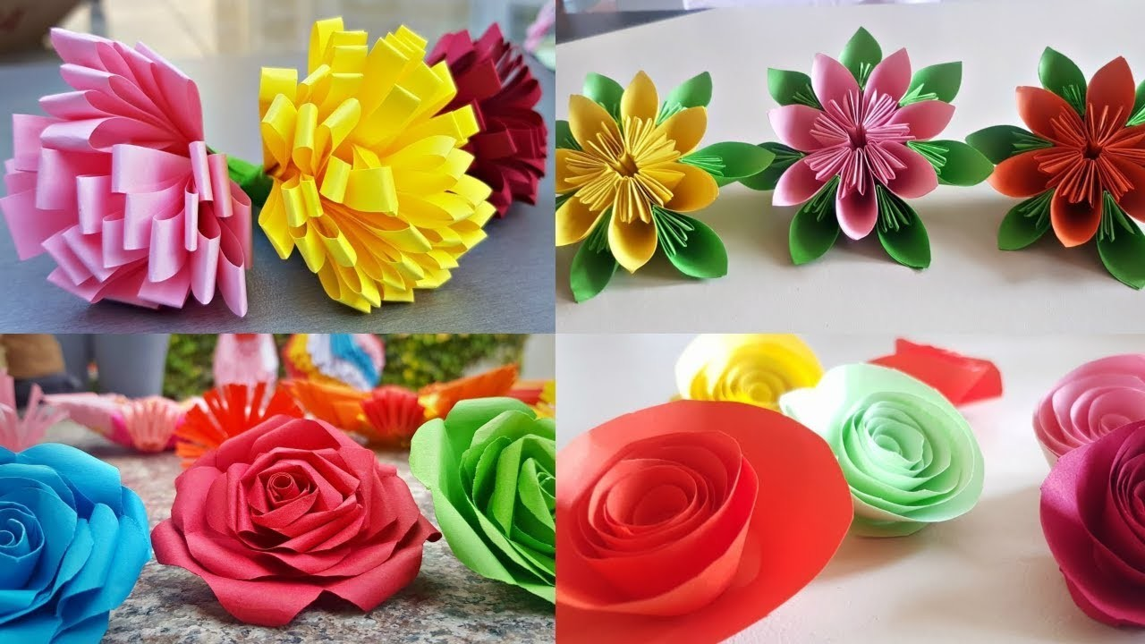 5 Quick Easy Paper Flowers Decor Ideas Diy Flowers