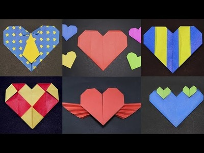 6 Ways to make Heart with Paper