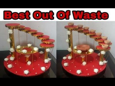 96. DIY Diya Stand | Tray Decoration | Wedding Tray |Best Out Of Waste