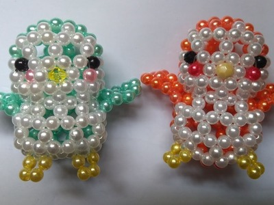 Beads - How to make keychains: birds 1.2 - Con chim hạt cườm