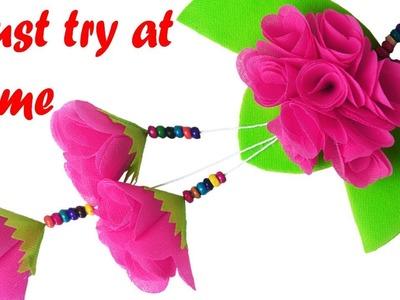 Best Reuse Carry Bag Flower Hanging    DIY Door Hanging.Wall Hanging making