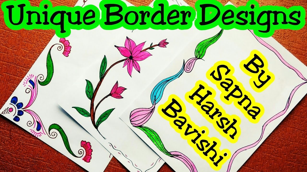 Border Designs On Paper Border Designs Project Design Border