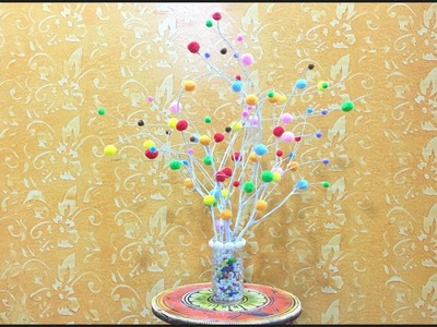 Decorate your home with little money    Tree branch DIY    Best out of waste