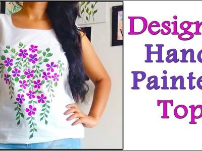 DIY Designer Hand Painted Top