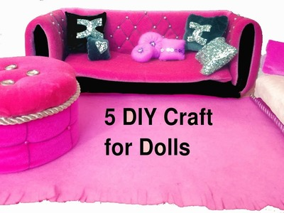 DIY DOLLHOUSE FURNITURE AND BARBIEDOLL CRAFTS