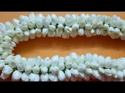 DIY How to string jasmine. ???(EASY METHOD)