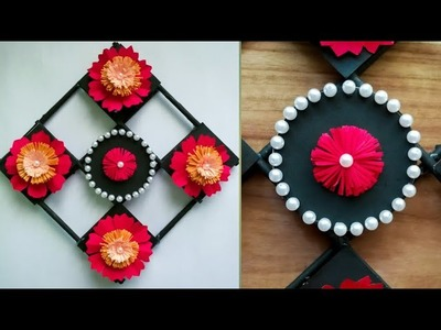 Diy paper flower wall hanging.Simple and beautiful wall hanging.Wall decoration by KovaiCraft #28