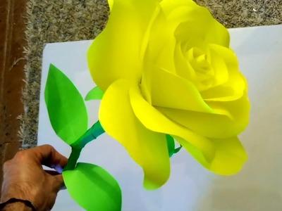 DIY Paper Rose ???? Rosa De Papel