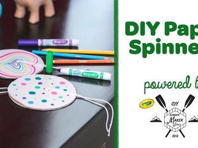 DIY Paper Spinners || Crayola Summer Maker Series