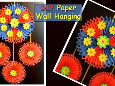 DIY Paper Wall Hanging | Wall Decoration Ideas | Easy Paper Crafts