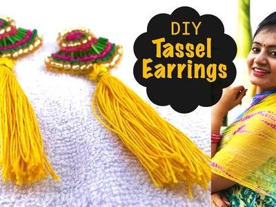 DIY Tassel Earrings   How to Make Tassel Earrings at Home   Jewellery Making Ideas   Live Creative