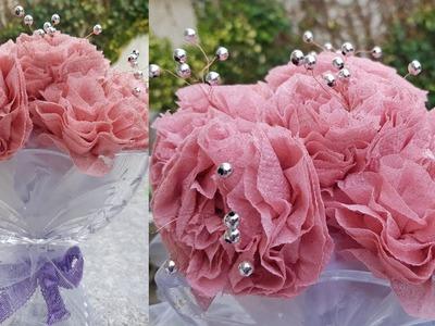 DIY Toilet Paper Flowers - Home Decor   Wedding Decor