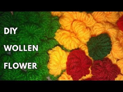 Diy WOOLEN FLOWER
