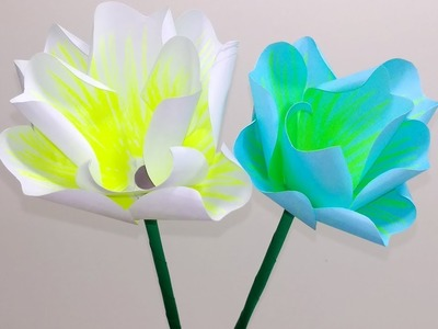 Homemade:Easy Way to Make Beautiful Stick Flower with Paper| Stick Flower | Jarine's Crafty Creation
