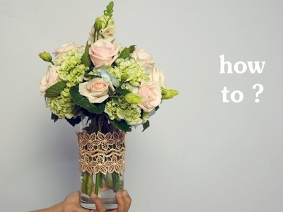 HOW TO Arrange Flowers DIY Rose Hydrangea,Snapdragon Flower Vase ? 63
