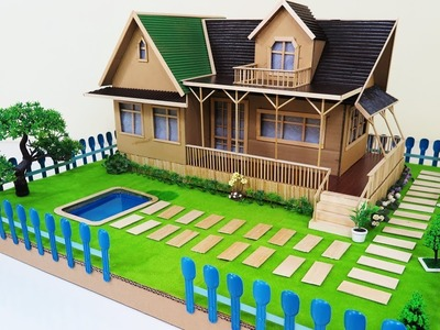 How to Make A Beautiful house With Fairy Garden & Swimming Pool ( Dream house ) - Bamboo Stick House