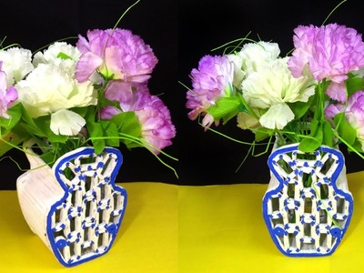 How to make a Flower vase From Newspaper | Best out of waste | Newspaper Reuse idea