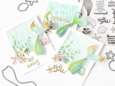 How To Make A Layered Vellum Window Card Featuring Inner Mermaid