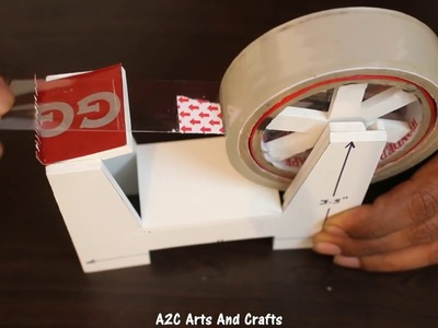 How to make a Tape Dispenser - TAPE CUTTER