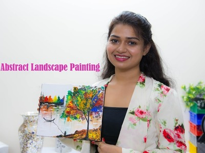 How to Make an Abstract Painting using Palette Knife