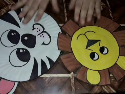 How to make an animal face mask using paper plate for school project