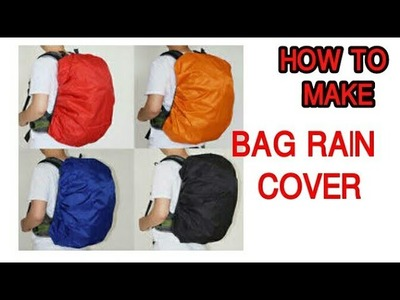 How to make BAG RAIN COVER at home| #diy