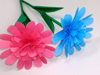 How to Make Beautiful-Easy-Paper Stick Flower Making for Home|Stick Flower|Jarine's Crafty Creation