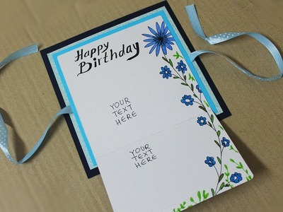 How to make birthday card for boyfriend - Homemade Card Making