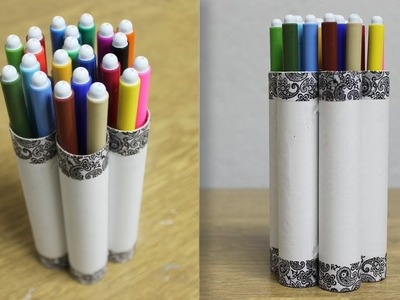 How to make pencil holder with waste material - DIY Pencil Holder