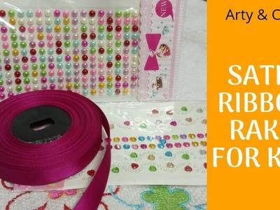 How to make Rakhi at Home#Satin Ribbon Rakhi Idea#Handmade Rakhi#Bracelet Rakhi#DIY-Kids Rakhi