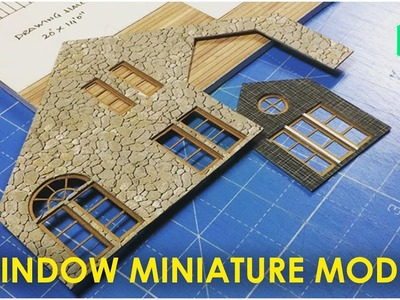 How to Make Window Miniature Model | very simple & easy method
