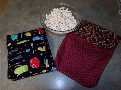 How To Sew A Microwavable Popcorn Bag