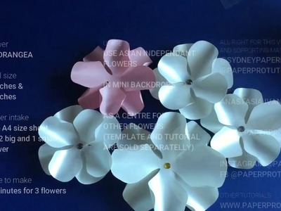 Hydrangea Paper Flower video tutorial_how to make a paper flower
