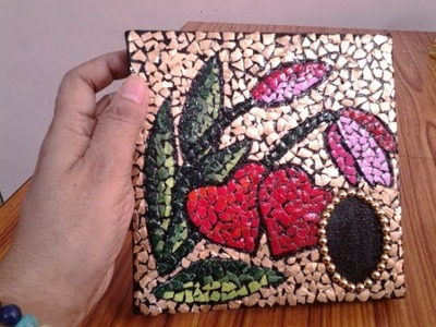 Incredible Idea of Recycling Egg Shell ll DIY Egg Shell Mosaic ll Waste Egg Shell Art Idea