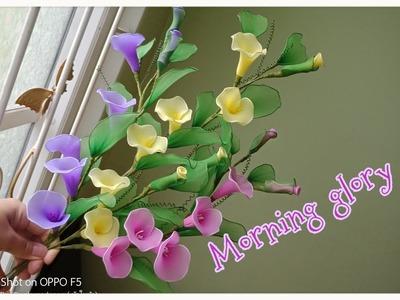 Morning glory (How to make nylon.stockin flower by ployandpoom