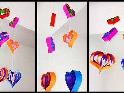 Paper Love Hearts Wall Decoration Ideas | Very Easy DIY Crafts