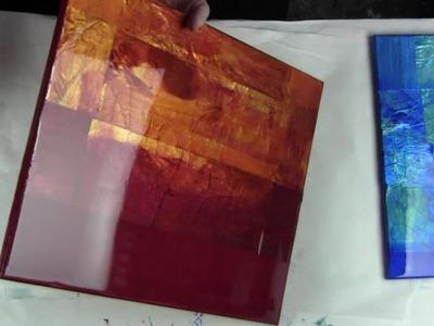Part 1 -Resin fluid Art- Vivid Metallic acrylic &-Deli paper by Leslie Ohnstad