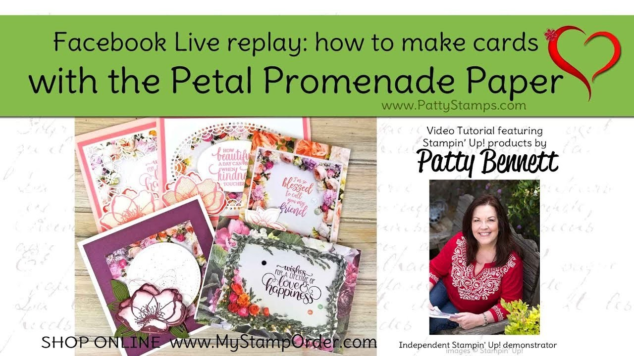 Tips for cutting and making cards with Petal Promenade paper from Stampin Up!