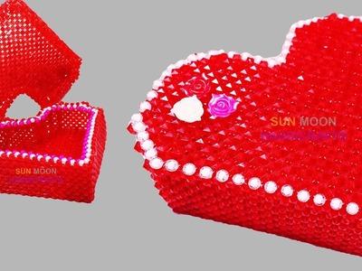 পুতির লাভ বক্স. How to make beaded love box. beaded ornaments box.beaded jewelry box.putir love box