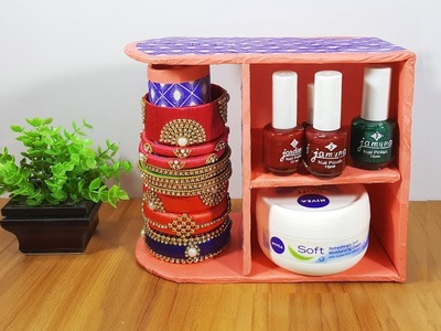 গহনার বক্স. How to Make DIY Jewelry Organizer, DIY Bangle Stand from Waste