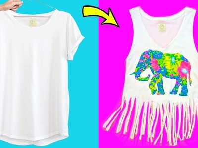 10 DIY CLOTHES IDEAS YOU NEED TO TRY   Cool Clothing Life Hacks