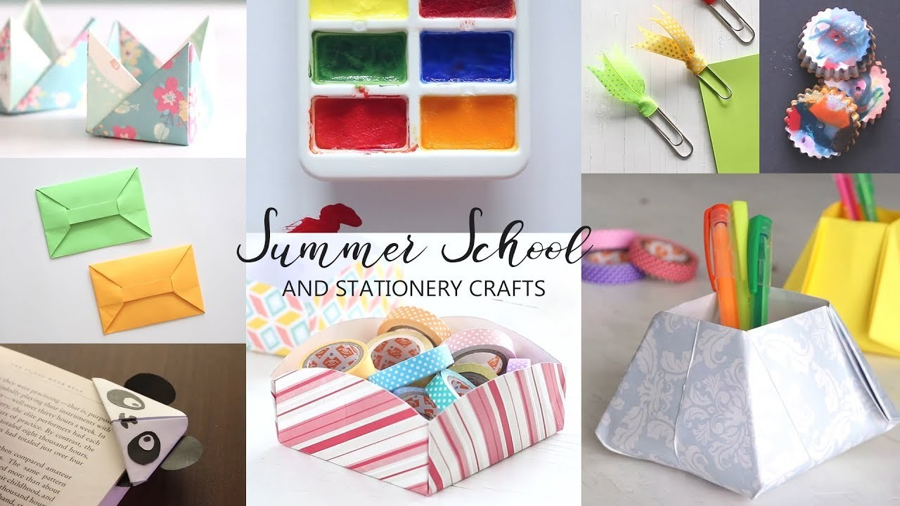 10 Summer School and Stationery Crafts | DIY Activities
