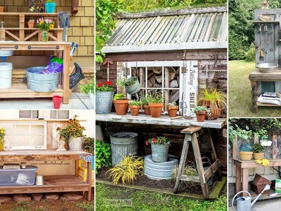 100 DIY Potting Bench Ideas For Your Garden | DIY Garden