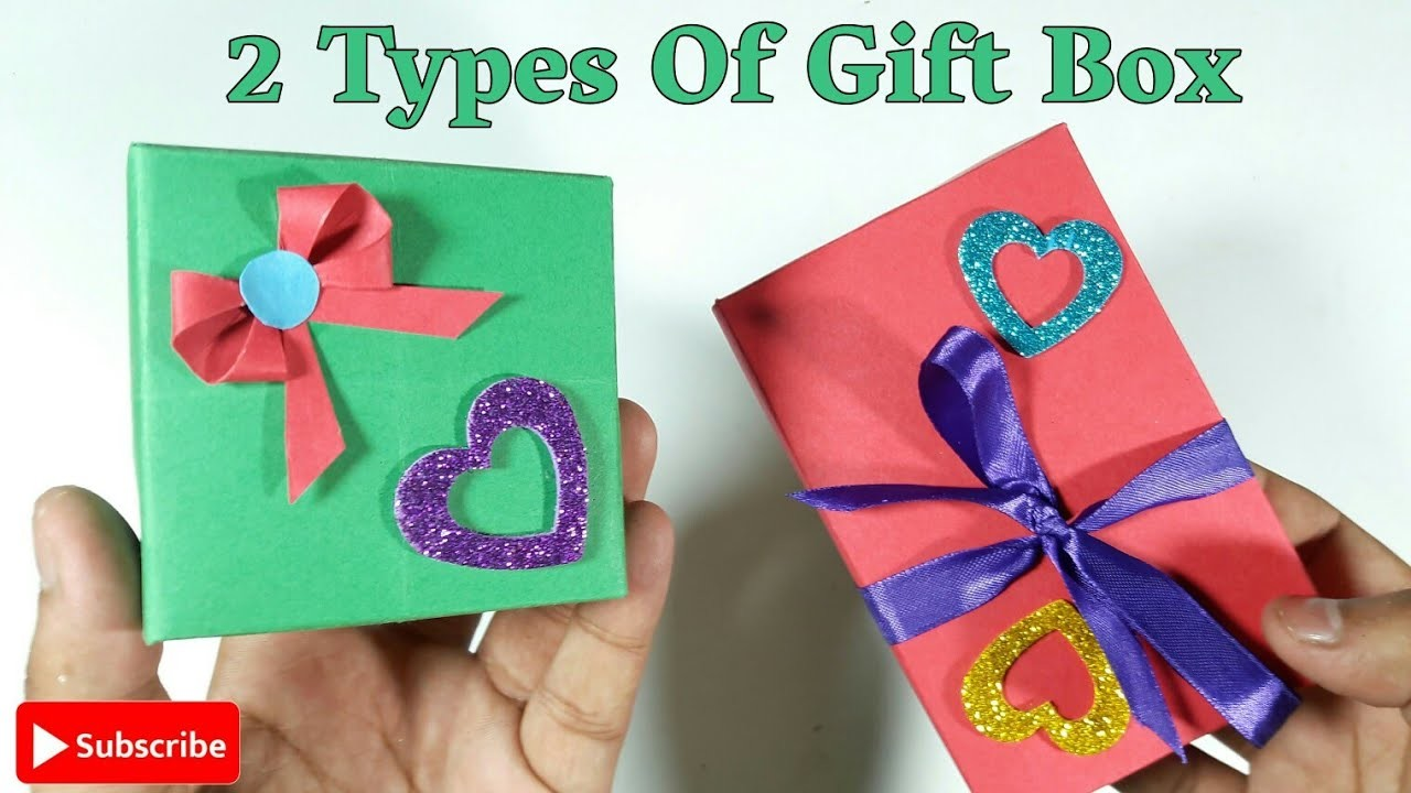 2 Diy Gift Ideas Amazing And Simple Gift Box Diy Arts And Craft