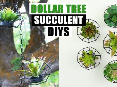 2 DOLLAR TREE FAUX SUCCULENT DIYS Summer DIY Home Decor