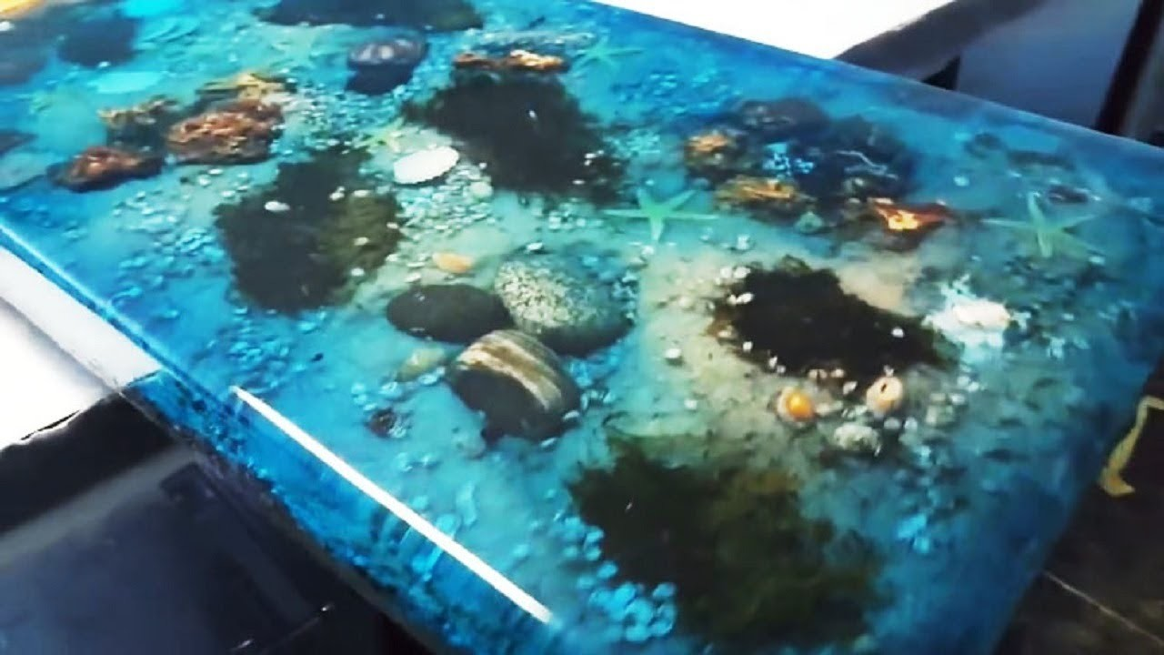 5 Most Amazing Epoxy Resin And Wood Ocean Table Latest