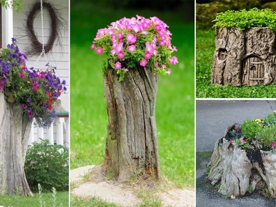 80 Amazing Tree Stump Ideas for Garden | DIY garden